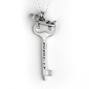 large serenity/hebrew key with branch {starts at $110}