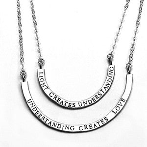 light creates love 2-piece cups half full necklace