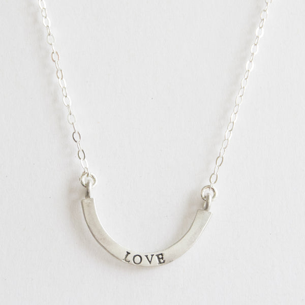 love cup half full single necklace