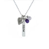 shalom/peace judaic word bar necklace
