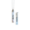 ahava/love judaic word bar necklace