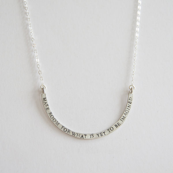 make room cup half full single necklace