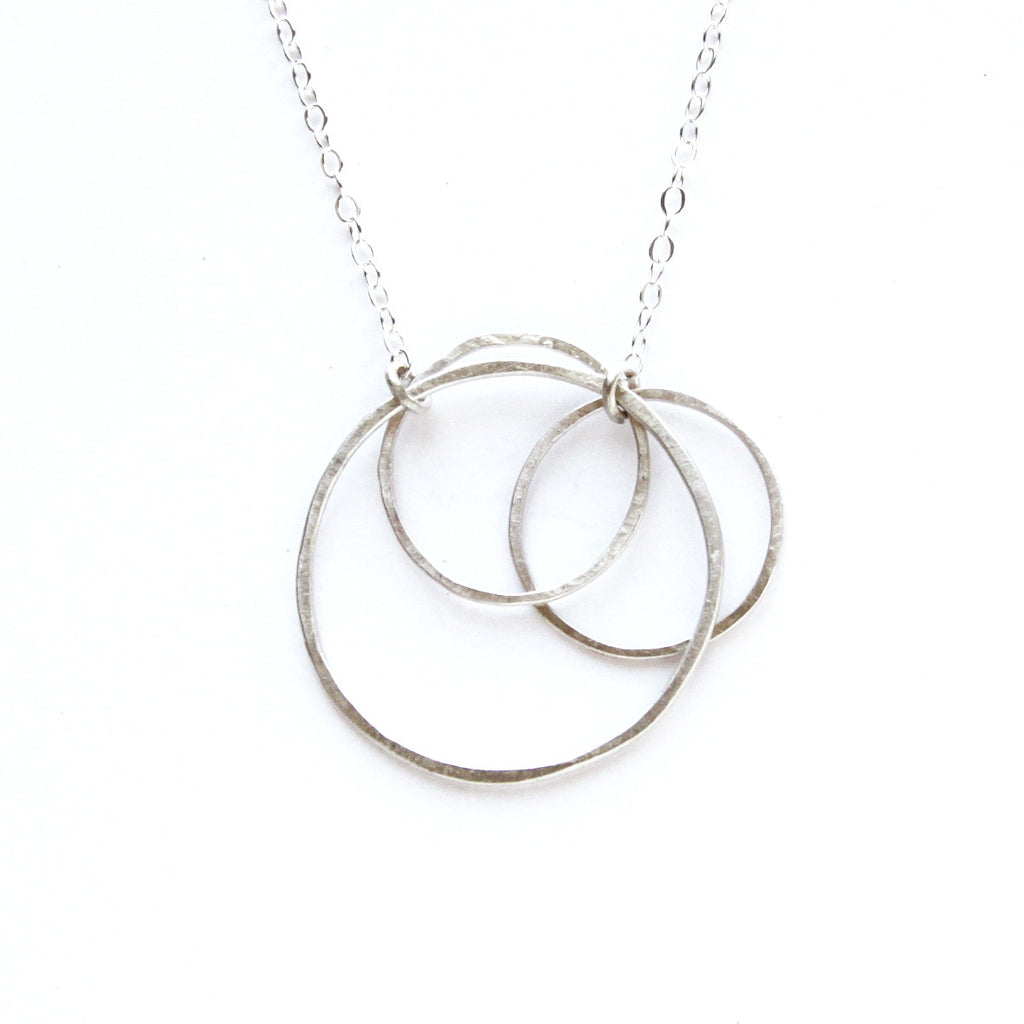 triple charity necklace in eliza circle image main silver eg dpgg gracious item