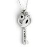 medium peace/hebrew key with bird combination necklace {starts at $90}