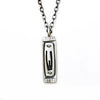 men's shin mezuzah necklace