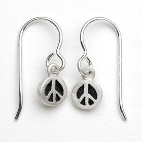 peace tiny dot earrings