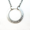judaic word circle necklaces