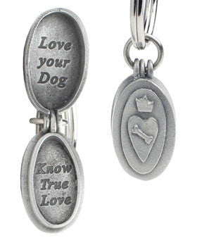 pup love locket keychain