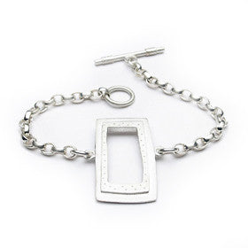 rectangle toggle bracelet