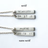 personalized hebrew bar and botanical combination necklace {starts at $104}