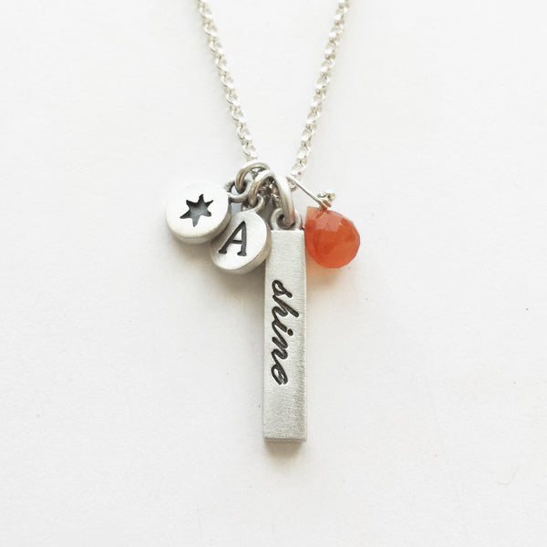 inspirational word bar necklaces