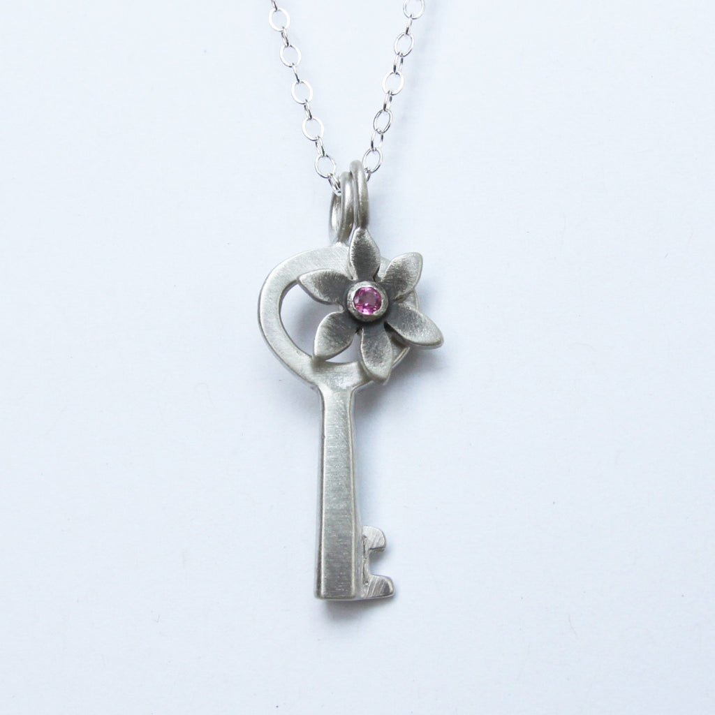 small simple key botanical combination necklace {starts at $54}