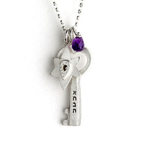 judaic key necklaces