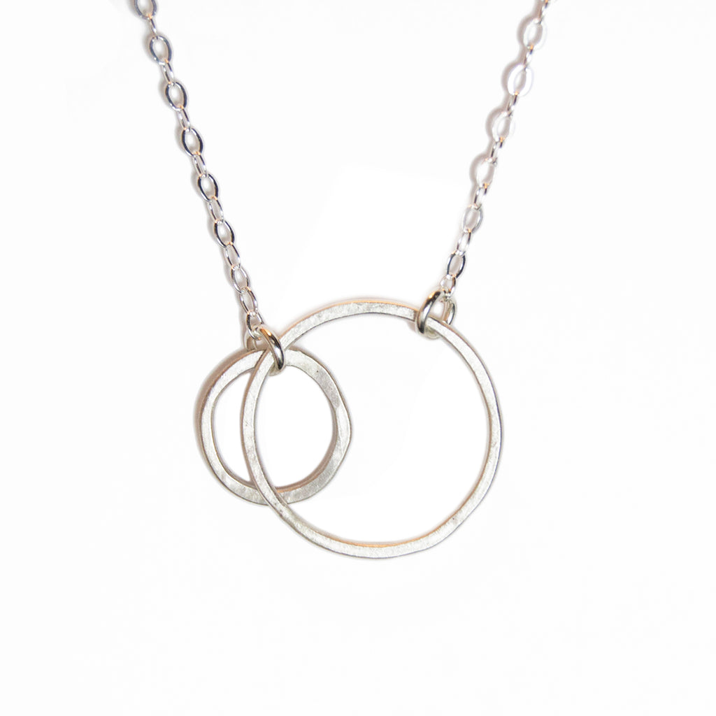 small double open circle necklace