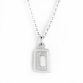 small rectangle necklace