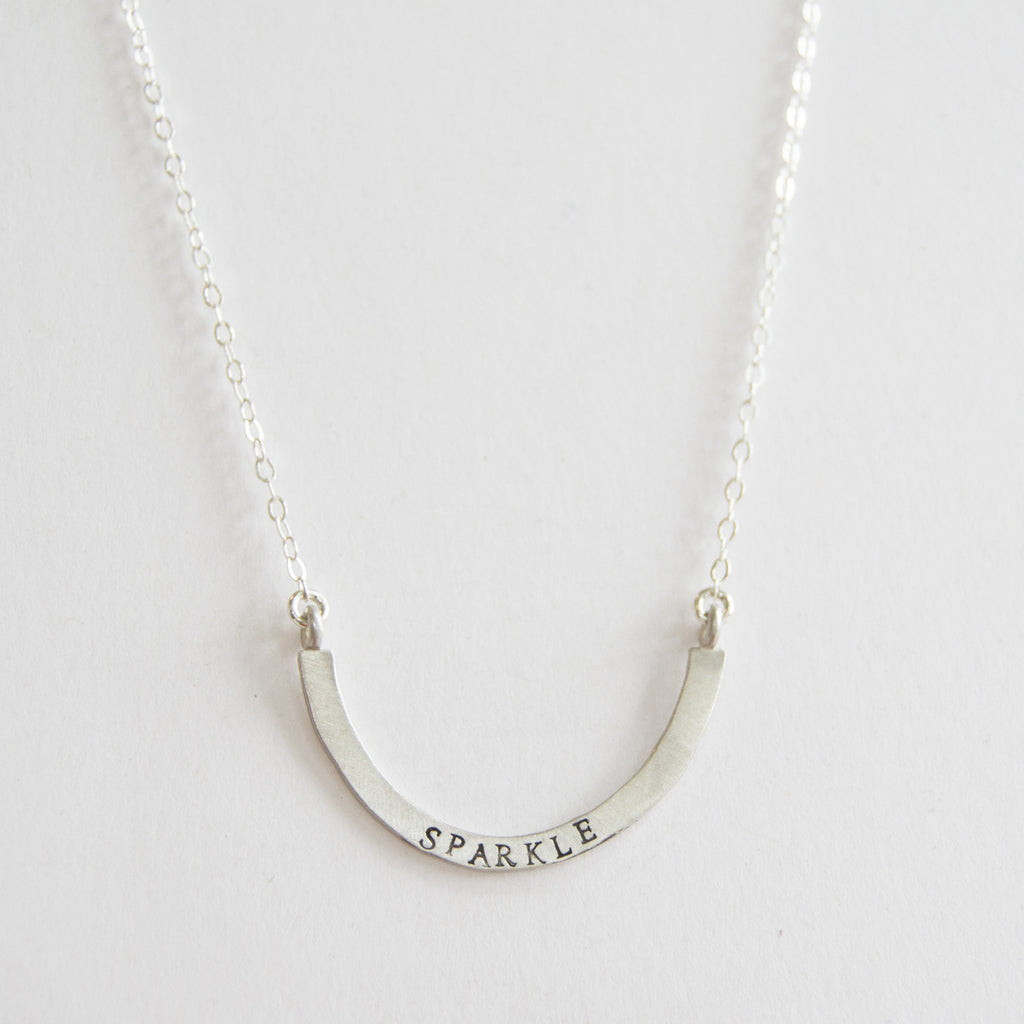 sparkle cup half full single necklace
