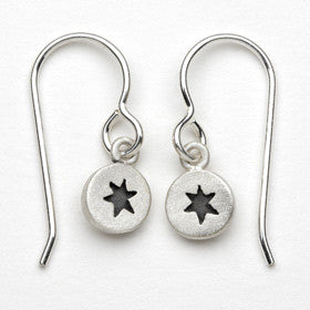 star of david tiny dot earrings