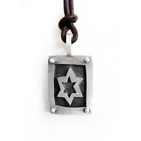 men's star of david necklace