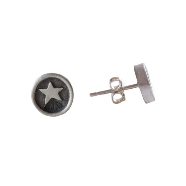 Star Circle Earrings