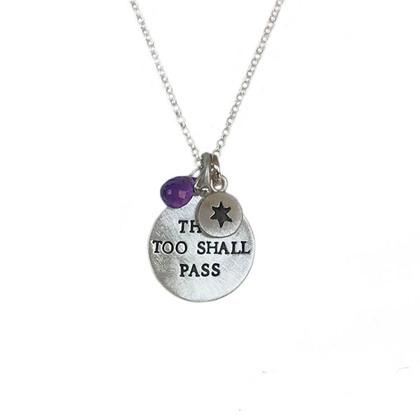 this too shall pass necklace {starts at $56.00}