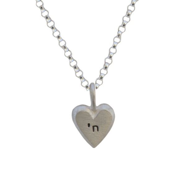 tiny heart with chai necklace