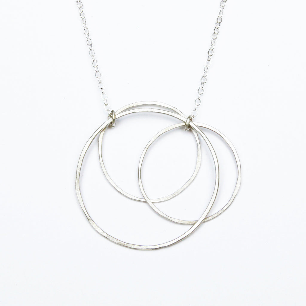 large triple circle necklace