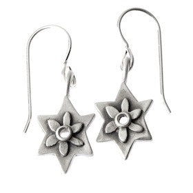 botanical star of david earrings