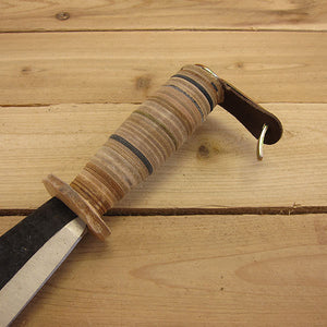 Brush Hook by SHW - Stacked Leather Handle