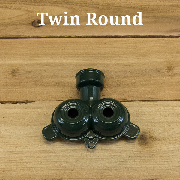 Small Stationary Sprinklers by Quality Valve & Sprinkler - Twin Round Pattern