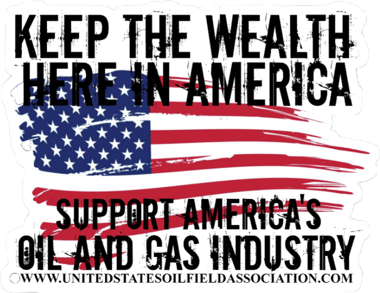 Keep the Wealth in the USA Hard Hat Sticker