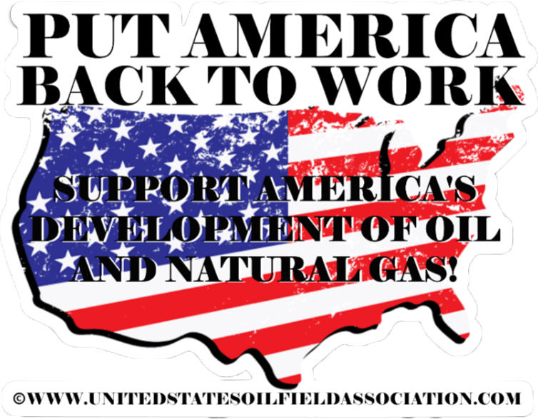 Put America back to Work Hard Hat Sticker