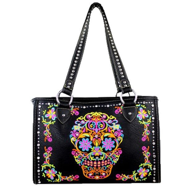 Accessories - Gun Holster Sugar Skull Handbag