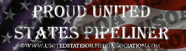 Decal - Proud United States Pipeliner Bumper Sticker