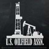 "Decal - U.S. OILFIELD ASSN. Decal (5.5""x5"")"