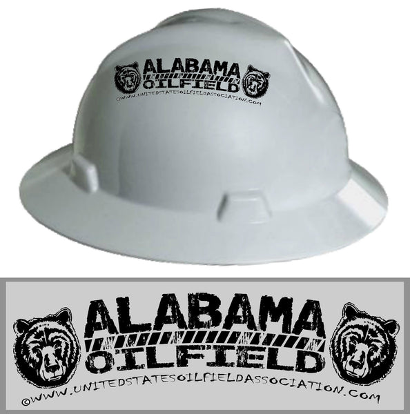 Hard Hat Decals - Alabama Oilfield Hard Hat Decal