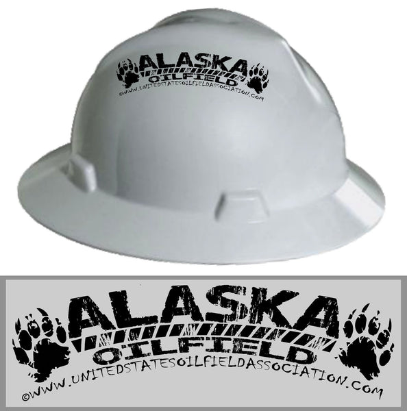 Hard Hat Decals - Alaska Oilfield Hard Hat Decal