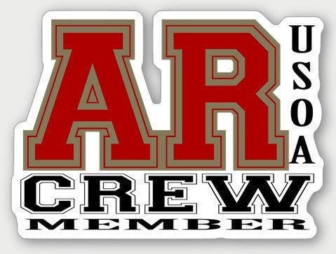 Hard Hat Decals - Arkansas Crew Member Hard Hat Sticker