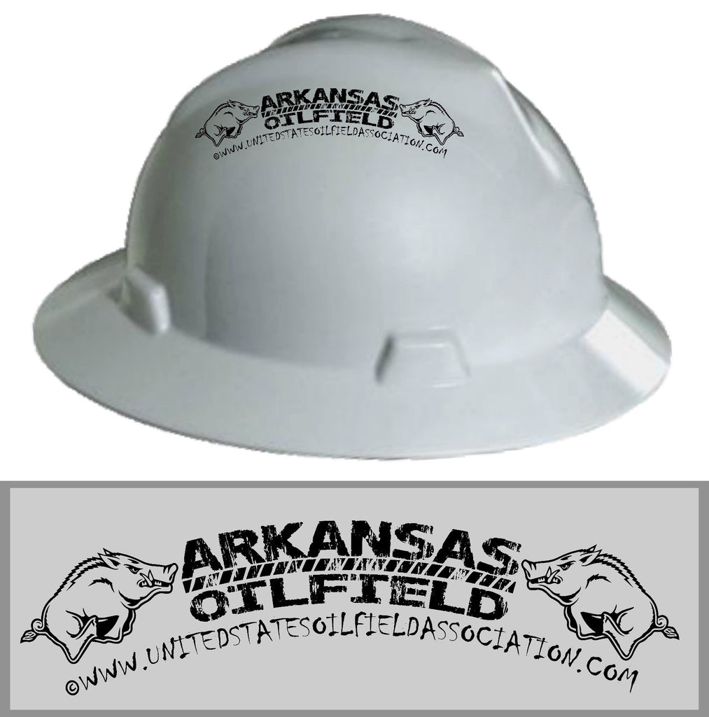Hard Hat Decals - Arkansas Oilfield Hard Hat Decal