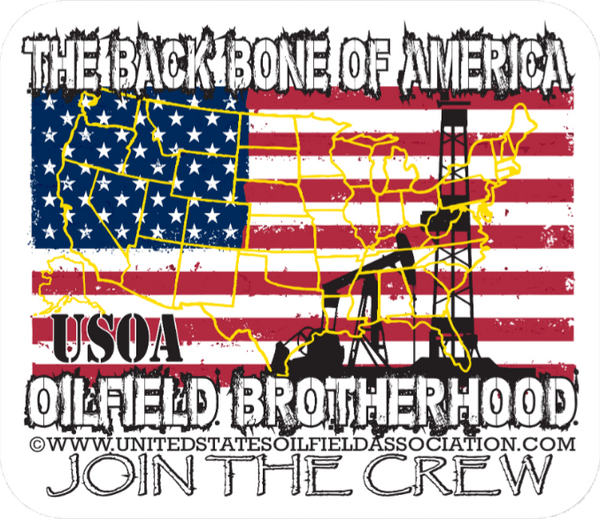 Hard Hat Decals - Backbone Of America Hard Hat Sticker