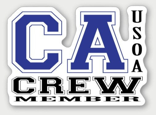 Hard Hat Decals - California Crew Member Hard Hat Sticker