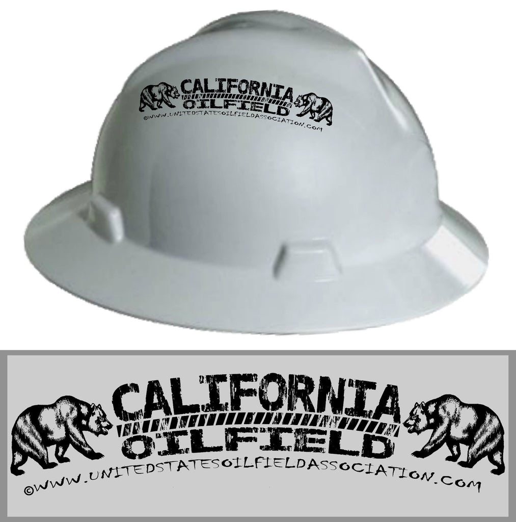 Hard Hat Decals - California Oilfield Hard Hat Decal