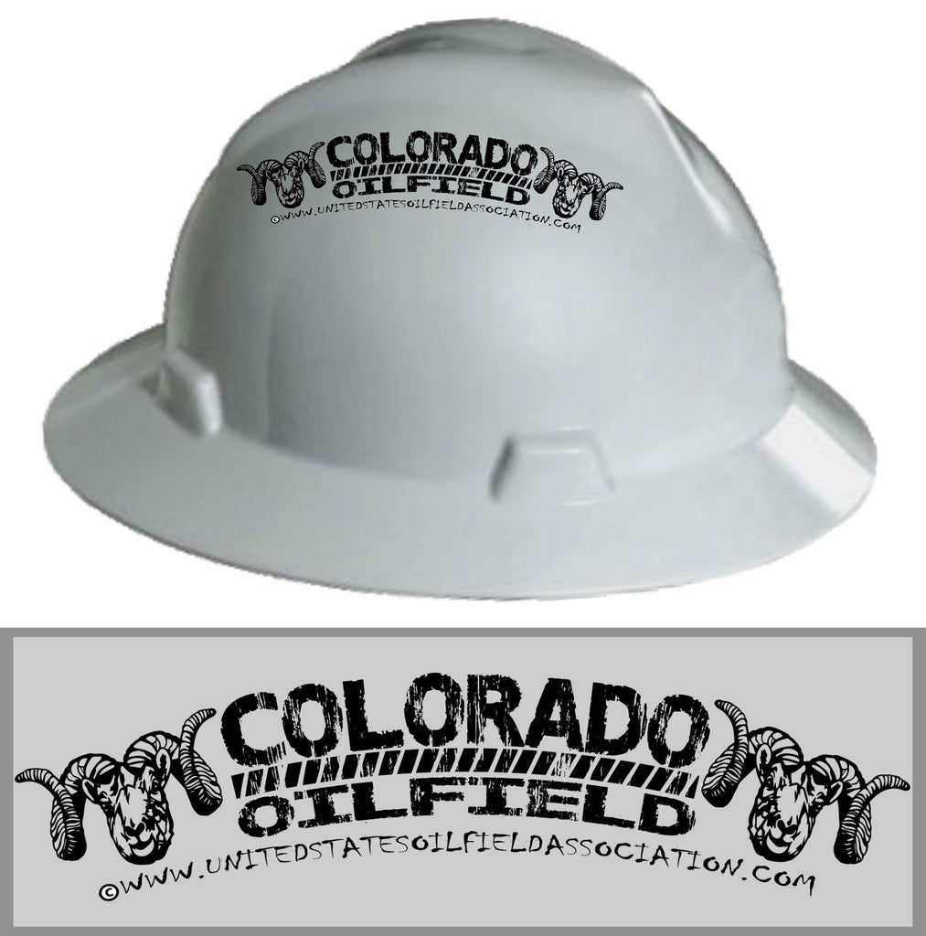 Hard Hat Decals - Colorado Oilfield Hard Hat Decal
