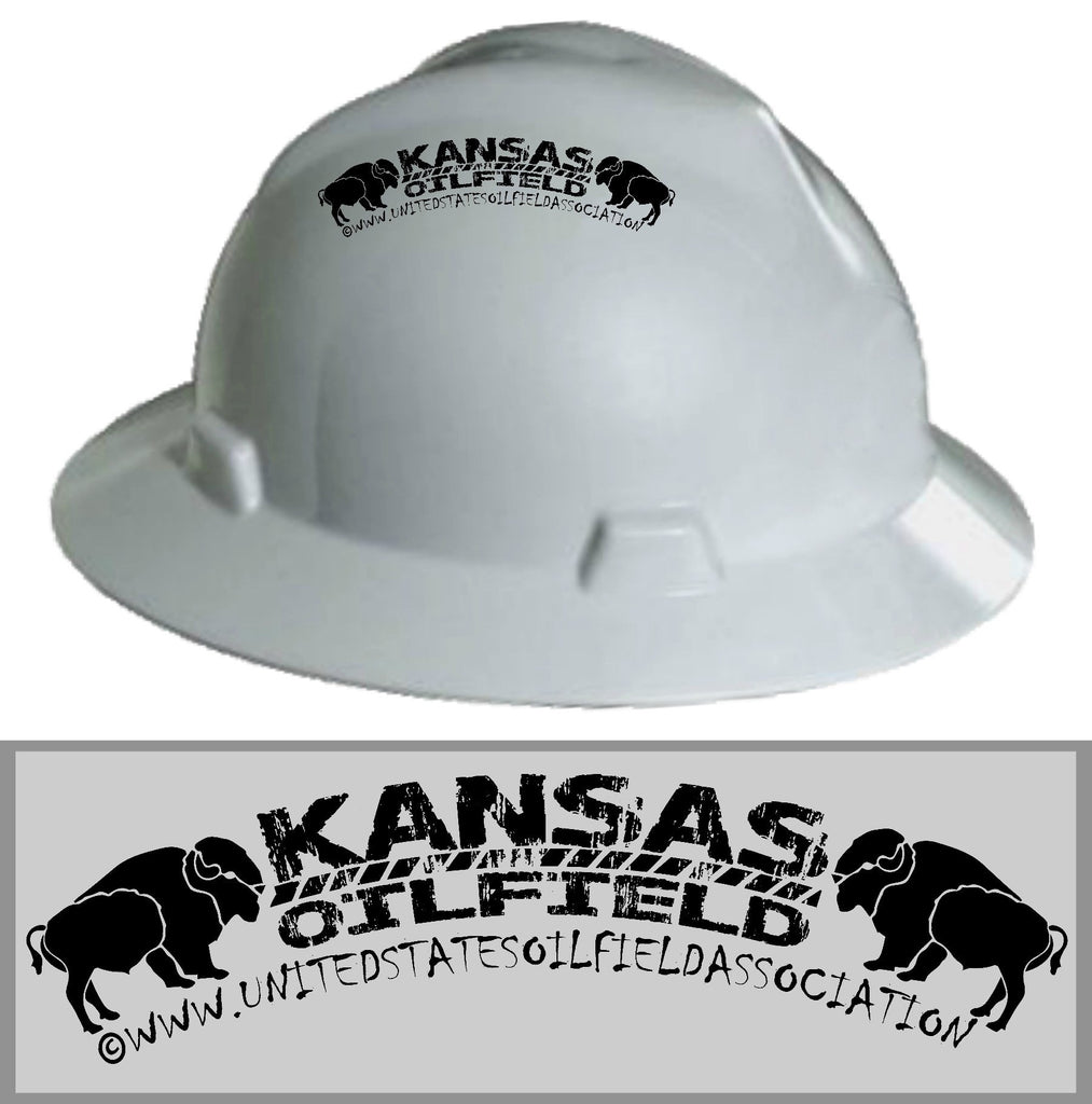 Hard Hat Decals - Kansas Oilfield Hard Hat Decal