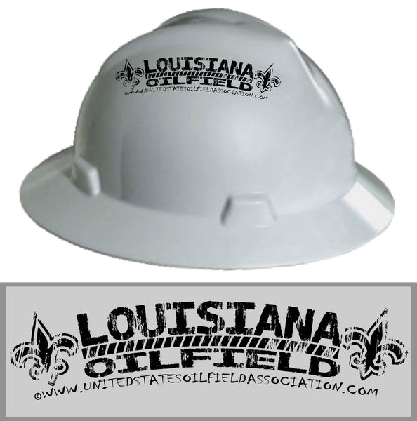 Hard Hat Decals - Louisiana Oilfield Hard Hat Decal