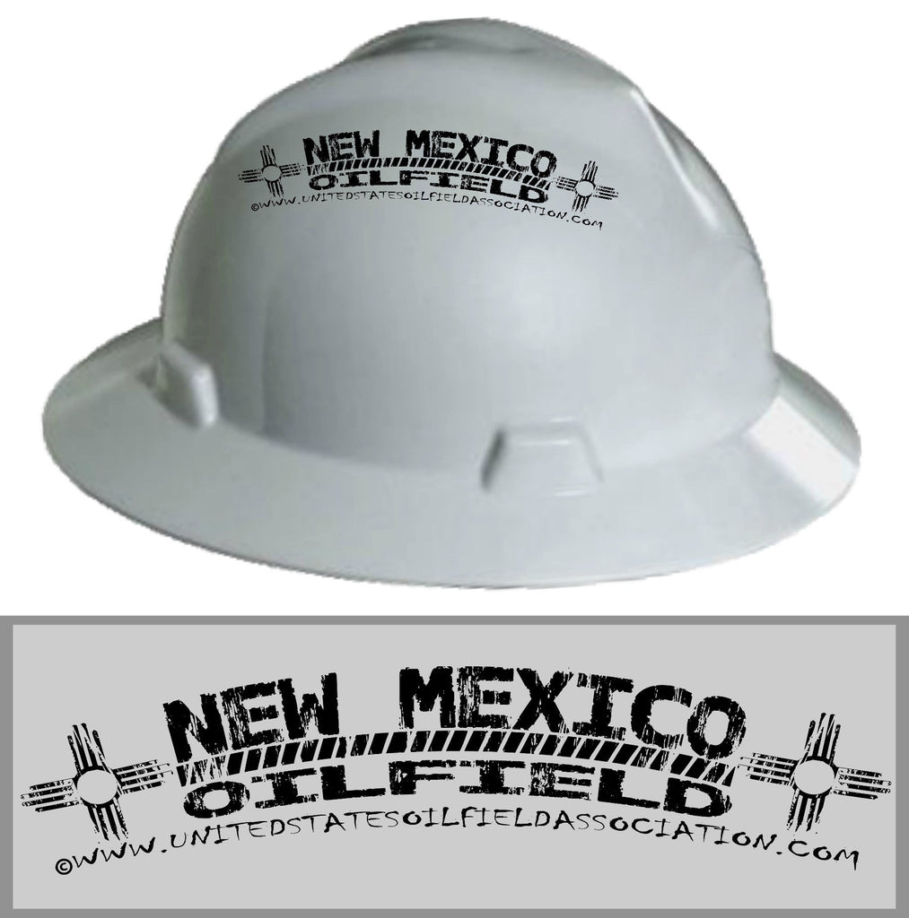 Hard Hat Decals - New Mexico Oilfield Hard Hat Decal