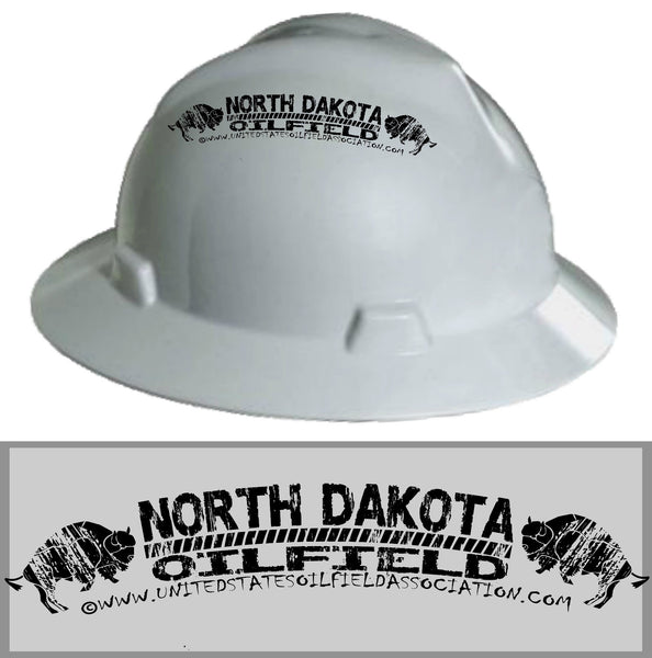 Hard Hat Decals - North Dakota Oilfield Hard Hat Decal