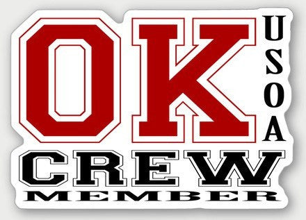 Hard Hat Decals - Oklahoma Crew Member Hard Hat Sticker