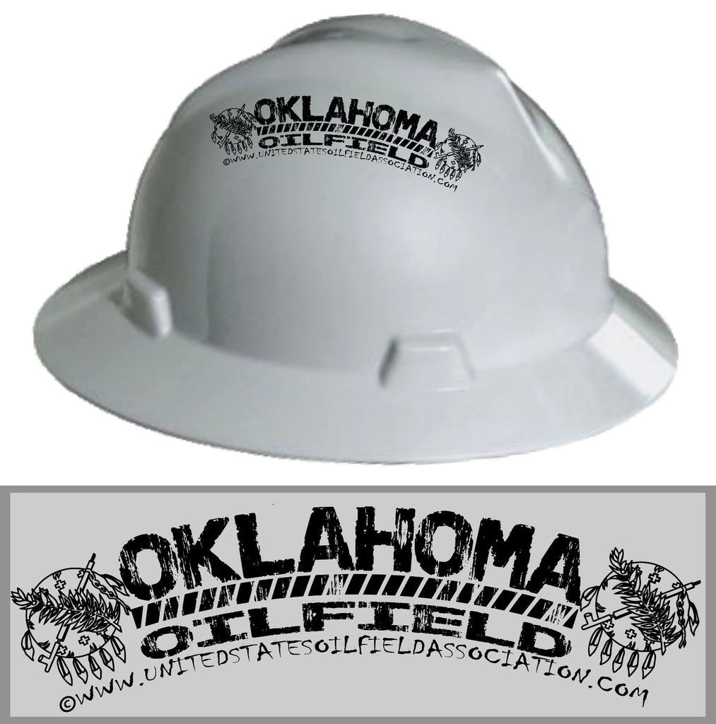 Hard Hat Decals - Oklahoma Oilfield Hard Hat Decal
