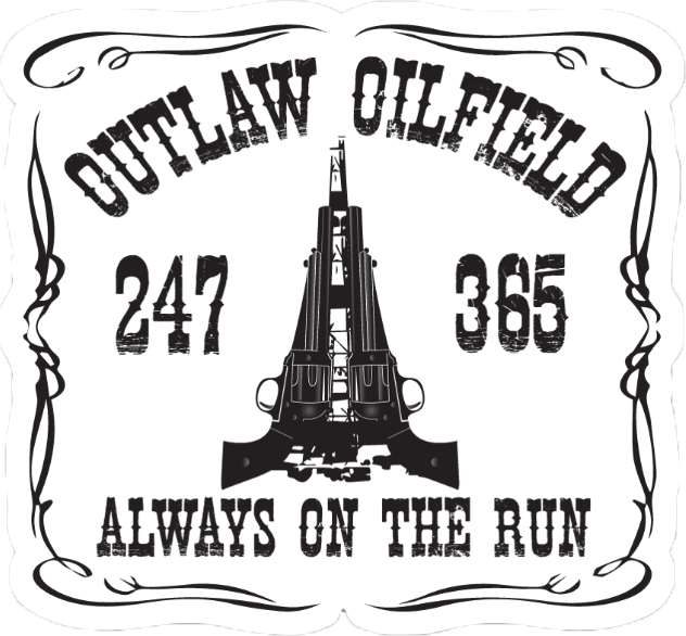 Hard Hat Decals - Outlaw Oilfield Hard Hat Sticker