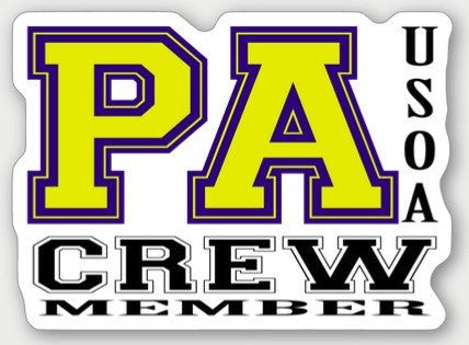Hard Hat Decals - Pennsylvania Crew Member Hard Hat Sticker